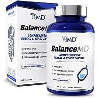 1MD BalanceMD - Candida Fungal & Yeast Support | 18 Billion CFUs Probiotics, Digestive Enzymes, Oregano, and Aloe Vera | 60 Capsules