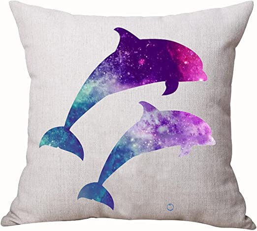 Marine Life Pillow Case Bedroom Sofa Waist Throw Cushion Cover Home Decor Square