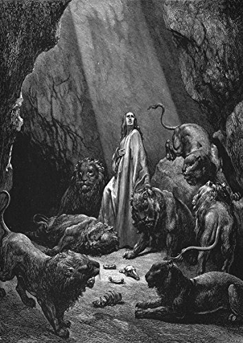 Daniel In The Lion's Den Craft (Gustave Dore: Daniel In The Lions' Den. Fine Art Print/Poster (29.7cm x)