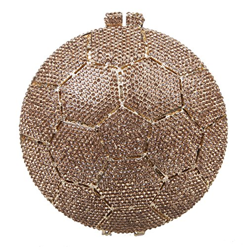 (Fawziya Soccer Ball Crystal Clutch Purses Handbags For Women Bags-Smoky yellow)