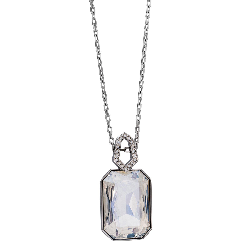Swarovski Evanescent 5069284 Ruthenium Plated Crystal Pave Pendant Necklace