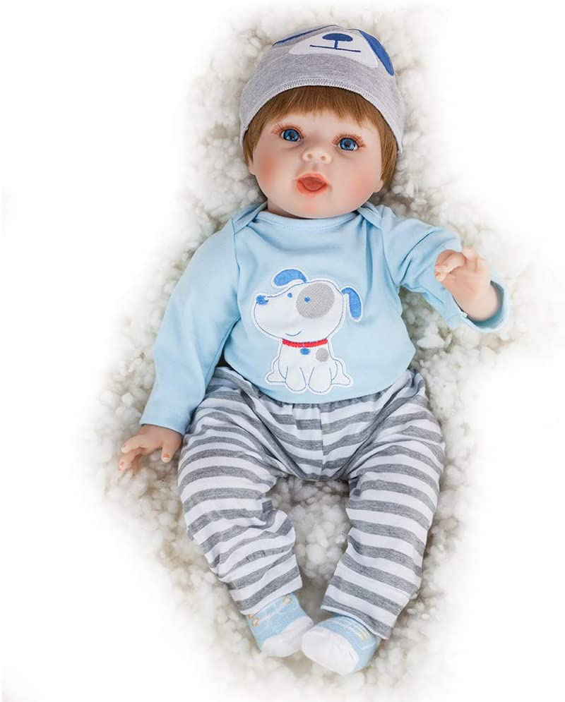 JOYMOR 22 Inch Reborn Baby Doll Lifelike Realistic Washable Soft Body Lovely Simulation Reborn Vivid Baby Doll