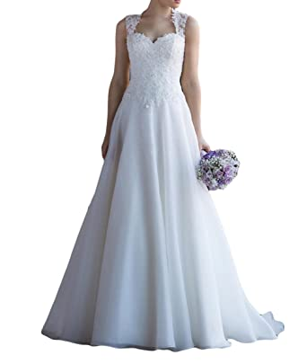 Vweil Vintage Inspired Lace Vestido De novia 2018 Illusion Neck Sheer Lace Bridal Wedding Dresses For