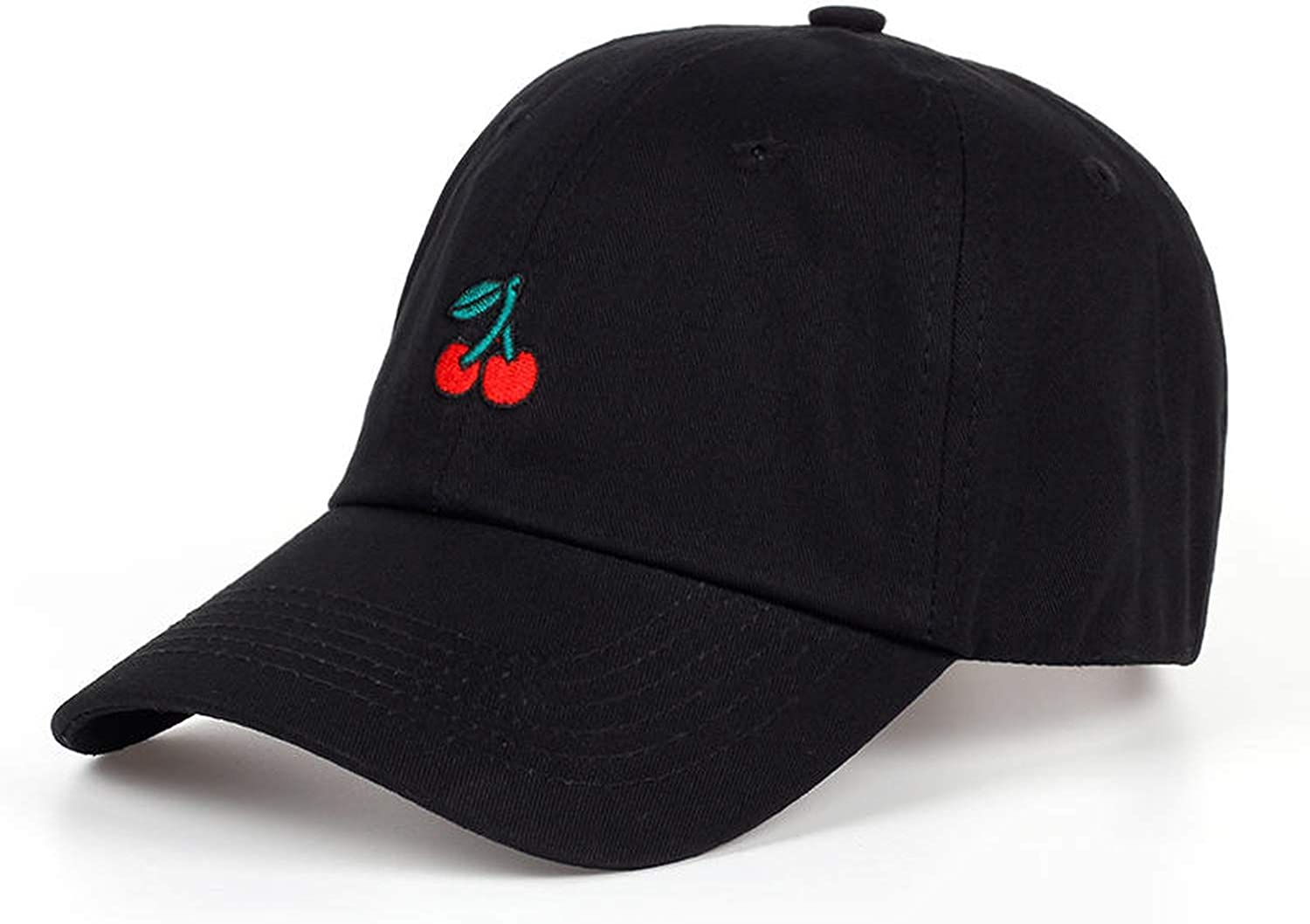 Sivane New Cherry Fruits Embroidered Baseball Cap Dad Hats Man /& Women Denim Blue Caps Adjustable Curved Hats