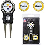 Pittsburgh Steelers NFL Divot Tool w/ Three Double Sided Ball Ma