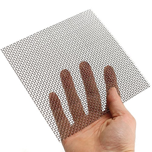 ZevenMart 15x15cm Woven Wire Cloth Screen Stainless Steel 304 10 Mesh Handicraft Machinery Nets (White Square Coffee Pot)