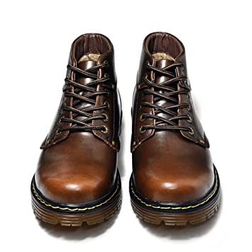 Zapatos de hombre Zapatos para hombres, Hombres Vintage Gran tamaño Alta Ayuda Martin Botas Hombre