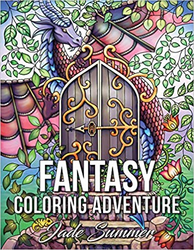 Amazon Fantasy Coloring Adventure A Magical World Of Creatures Enchanted Animals And Whimsical Scenes 9781974505739 Jade Summer Books