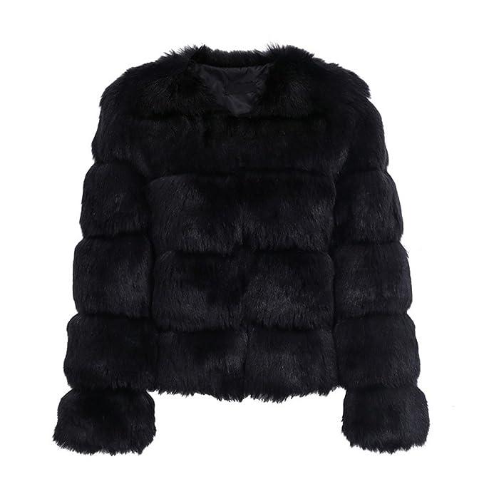 80c81aed82e Vintage Fluffy Faux Fur Coat Women Short Furry Fake Fur Winter Outerwear  Coat Black S