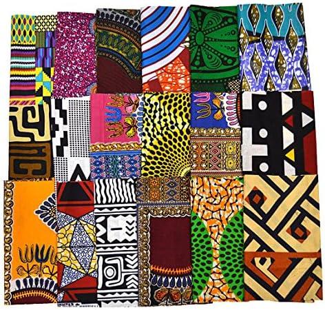 Fat Eight Fabric Mixed Ankara Print Fabric Craft Supplies WB166 Random 10 Fat Eighth Fabric Bundle African Quilt Fabric
