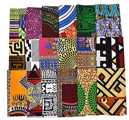 Amazon Random 10 Fat Eighth Fabric Bundle African Quilt Fabric