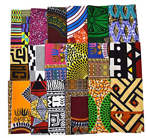 Random 10 Fat Eighth Fabric Bundle African Quilt Fabric | Fat Eight Fabric Mixed Ankara Print Fabric Craft Supplies WB166