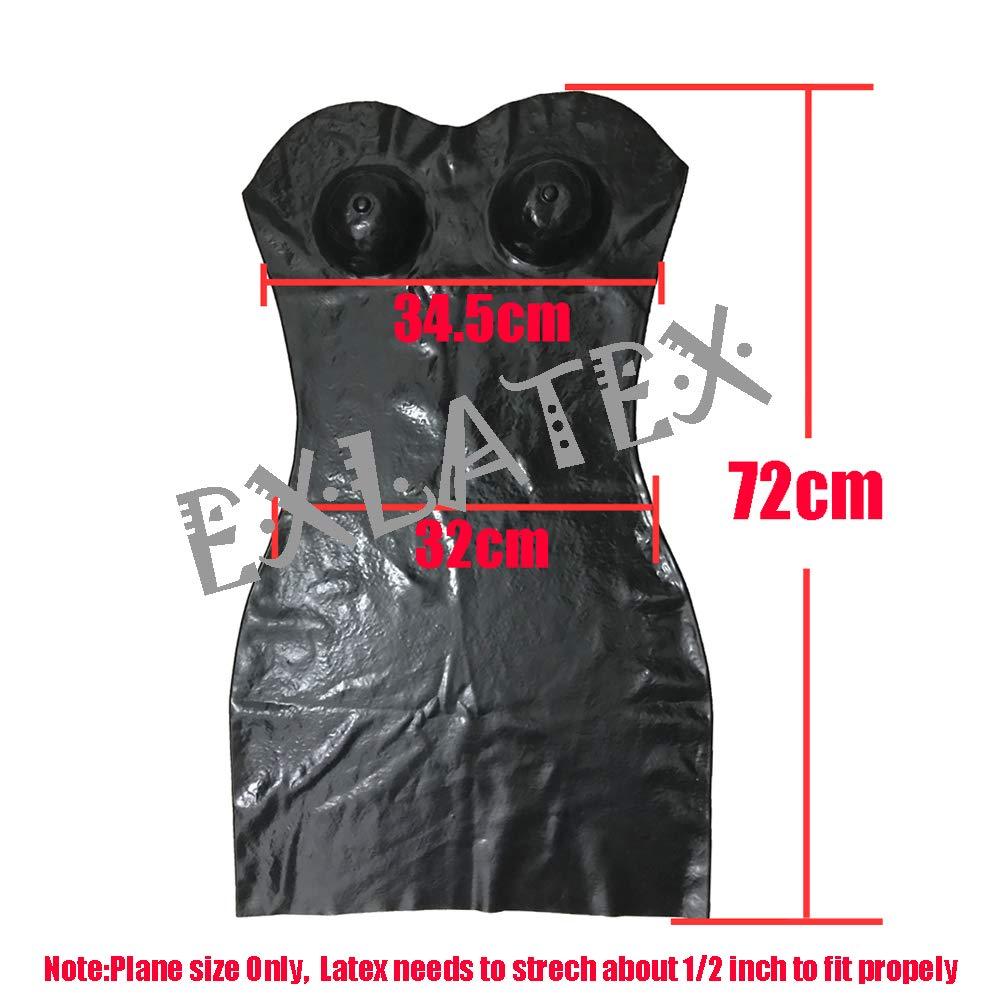 Amazon.com: EXLATEX - Mini vestido sin costuras de látex ...