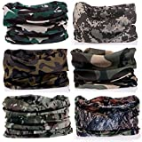 Kalily Pack of 6PCS Headband Bandana Protective Multi-use Seamless Breathable Neck and Head Tube Gaiter. Can Be Used As Neck Warmer, Headband, Bandana, Wristband, Balaclava, Headwrap. For Outdoor Activities Like Fishing Hunting Golf Camping Hiking Sports Motorcycle Riding Biking Cycling