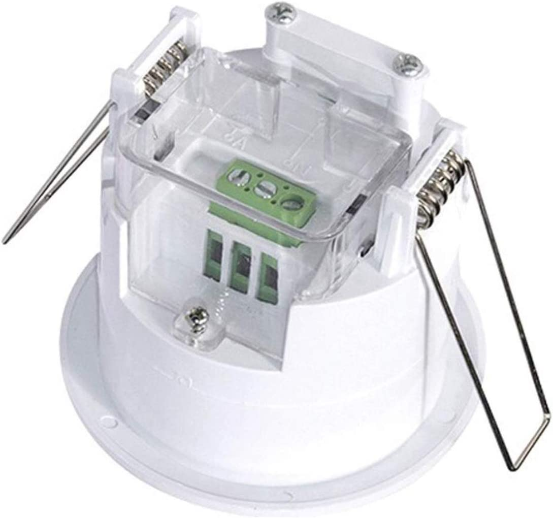 Detector Movimiento Empotrable para Led Sensor de Presencia Empotrable 160/º Crepuscular Medidas Standard compatibles Caja Pared.