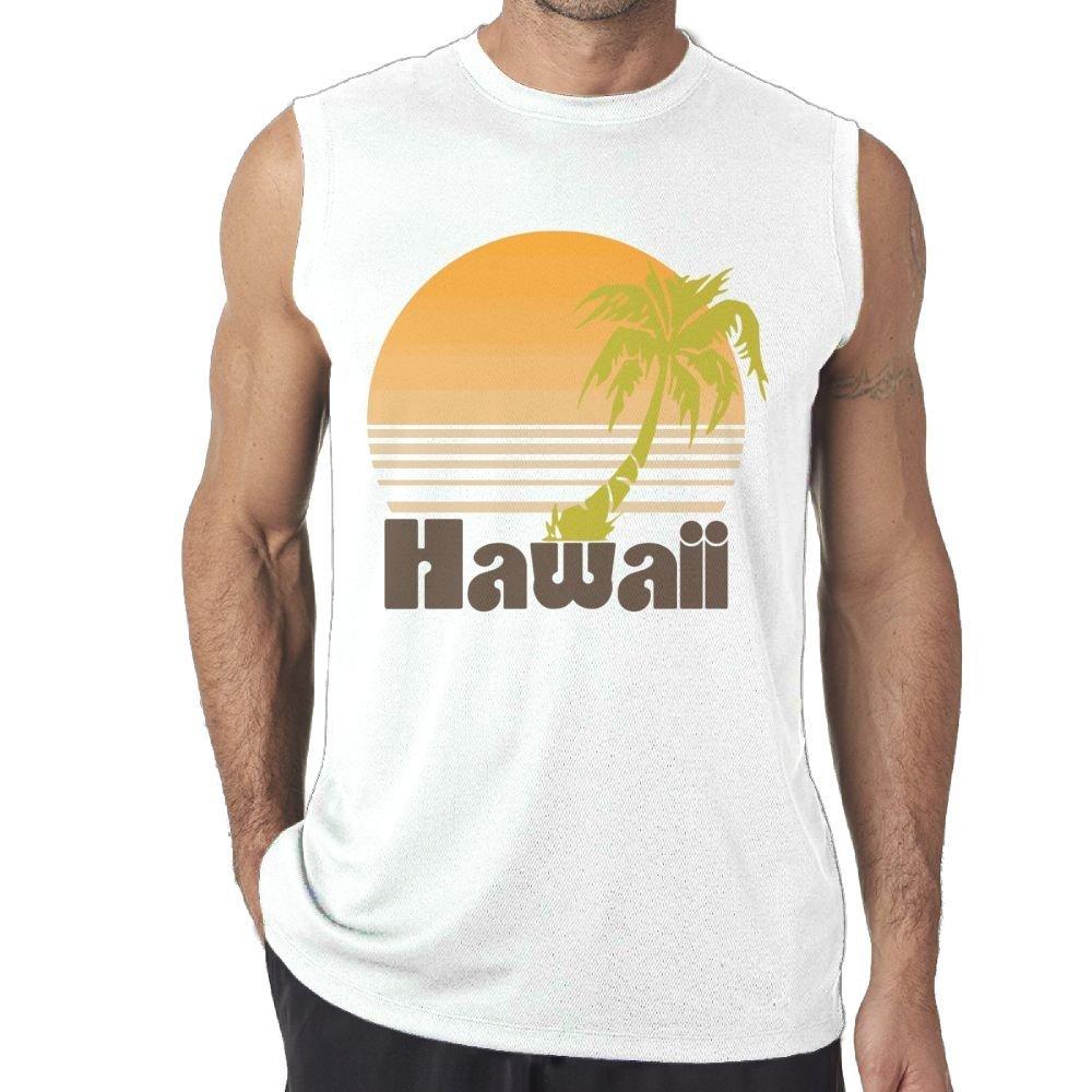 NRYDYMM Men Tank Top Hawaii Vintage Travel Exercise Tank 100/% Cotton Bodybuilding Vest
