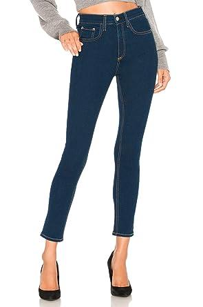 homme classique chic nouvelle apparence Jeans Femme Taille Haute Skinny Slim Jean Chic Bleu Marine ...