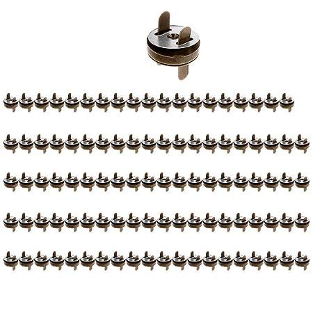 5 Piezas magnético broches Para Carteras O Bolsos 14mm Y 18mm Muchos Colores Ml