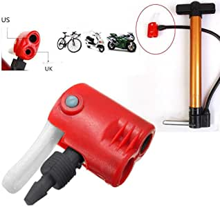Schrader Valve Bicycle Tire Tyre Air Pump Inflator Multi-use Connector Head UK