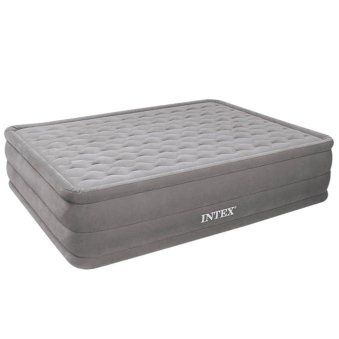 Intex Ultra Plush Bed - Cama de Aire, 152 x 203 x 46 cm, con Bomba 220-240 V