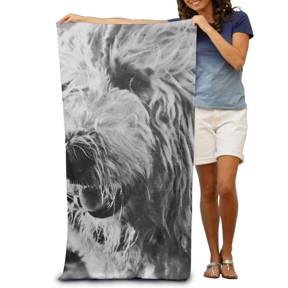 Super Absorbent Beach Towel Komondor Dog Polyester Velvet Beach Towels 31 X 51 Inch DEFFWBb