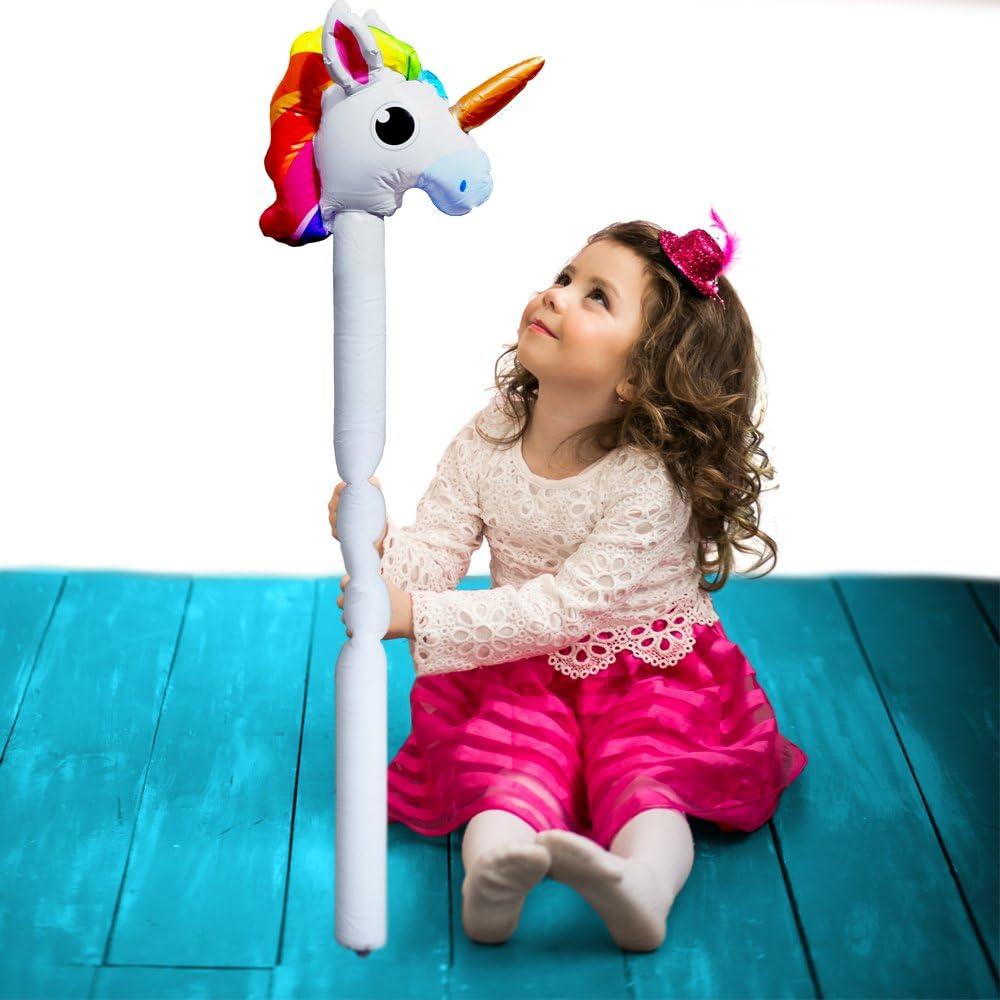 Licorne Gonflable ┃pour Monter┃ 110 cm┃Party Animal ┃Pool Party┃d/écoration┃pour Piscine et Pool German Trendseller/®