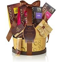 Godiva Chocolatier Signature Chocolate Gift Basket with Classic Ribbon, 7 Count