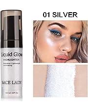 TAOtTAO Fondotinta illuminante liquido, anche per labbra, crema brillante bronzer per contouring