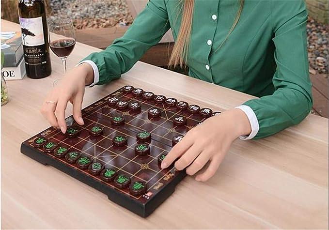 ESPLAY Juego de ajedrez Chino imitación Jade ajedrez magnético portátil Plegable Student Home Tablero de ajedrez, 3 cm Diámetro,Emeraldgreen: Amazon.es: Hogar
