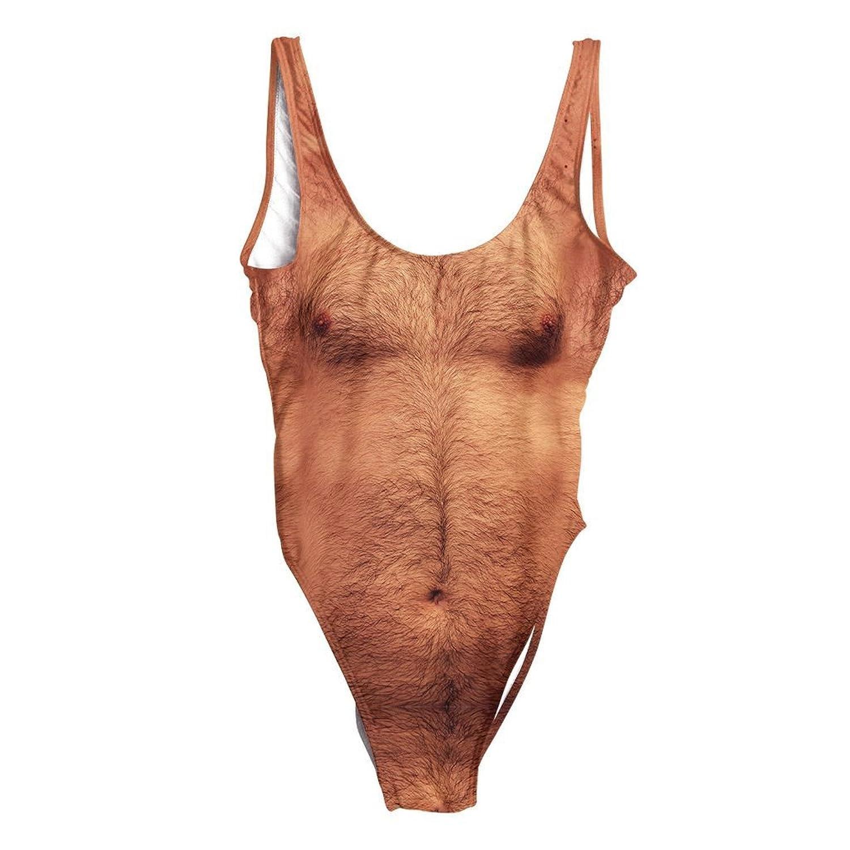 beloved shirts sexy chest tan one piece swimsuit amazon    unisex anita waxin costume mens hairy lifeguard      rh   amazon
