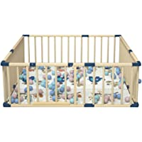 YXX-playpen Wooden Baby Playpen Fence for Twins, Boys and Girls - Indoor Toddlers Safety Playard with Non-Slip Mats…