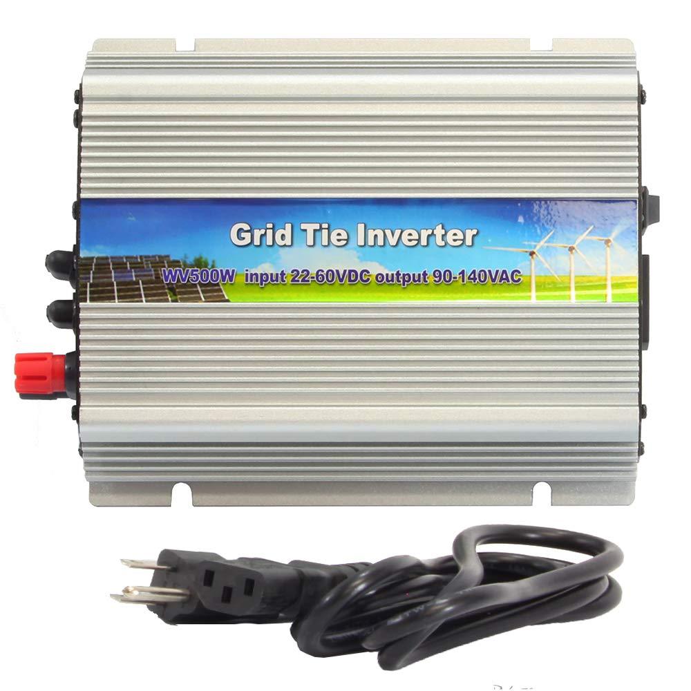 iMeshbean 500W Solar Grid Tie Inverter, MPPT Pure Sine Wave Inverter DC 22-30V to AC 110V for Solar Panel System