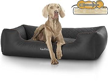 Knuffelwuff Madison - Cama ortopédica para perros, piel sintética cosida por láser: Amazon.es: Productos para mascotas
