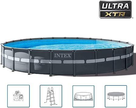 Intex Ultra XTR Frame 26340GN - Piscina redonda (732 x 132 cm ...