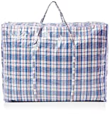 Zuvo 5 Pack XL Strong and Durable Jumbo Laundry Bags - For Laundry/ Shopping / Moving/ Storage - Zipped and Reusable ( ASSORTED COLOUR )