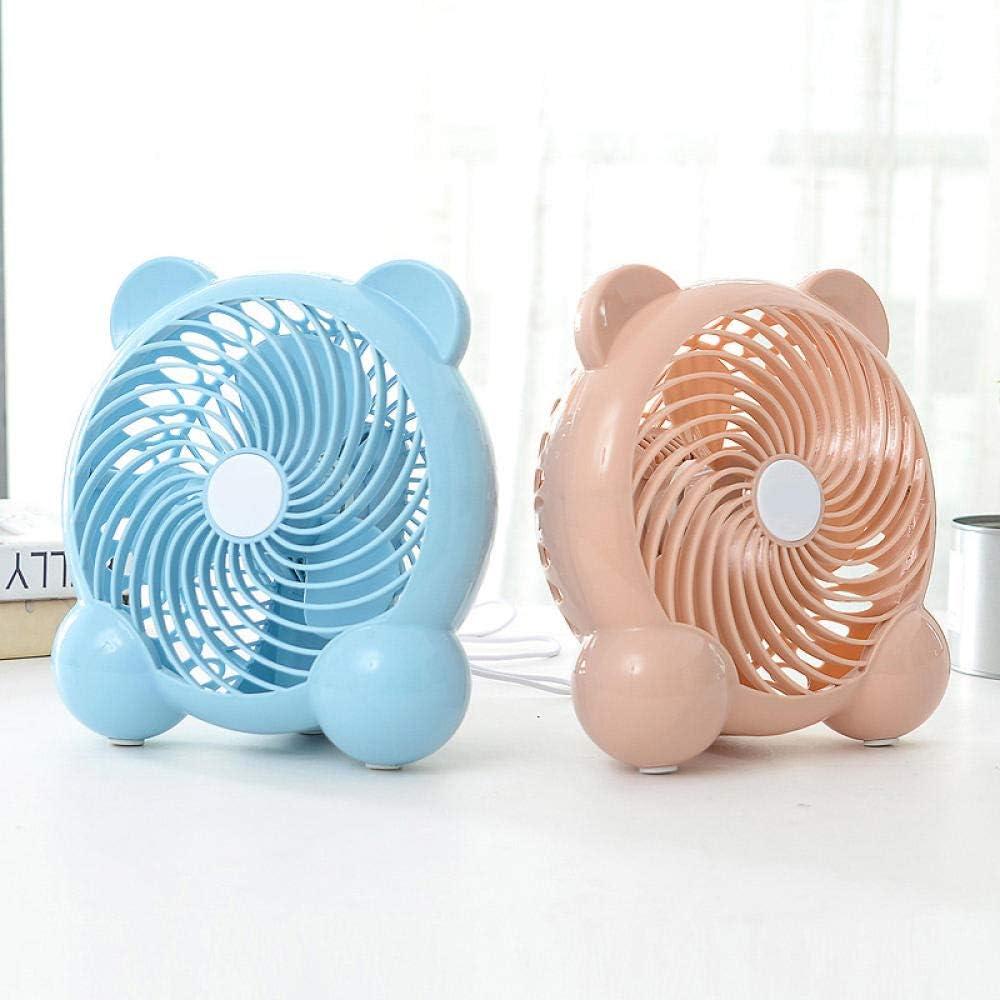 Jenny.Ben USB Mini Fan Portable Fan Silent Desktop Suitable for Indoor Outdoor@Blue Panda/_See The Details Page
