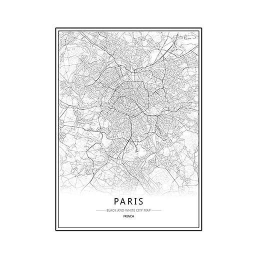 LUFA Londres Nueva York París pared de la lona Pintura ...