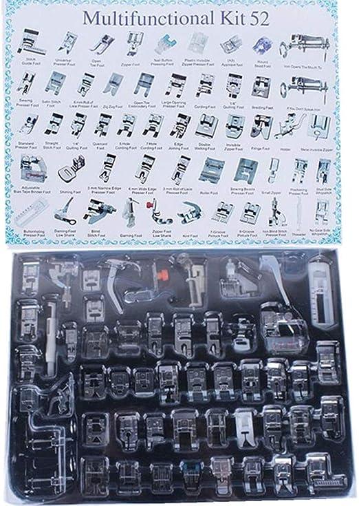 Juego de 52 piezas de prensatelas para máquina de coser doméstica ...