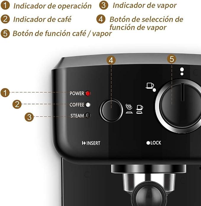 Cafetera Express Cafetera Espresso de Bomba Automática con ...