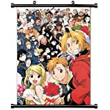 "Fullmetal Alchemist Anime Fabric Wall Scroll Poster (32"" X 45"") Inches"