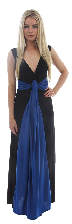 Frauen große Größe Kontrast Illusion Celebrity Titten Knoten Maxi Kleid  Abendkleid 44 – 54: Amazon.de: Bekleidung