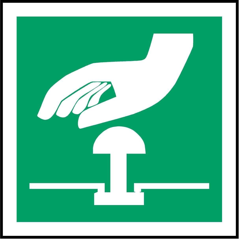 ISO Sicherheitskennzeichen Internationale Not-Aus-Knopf-Symbol ...