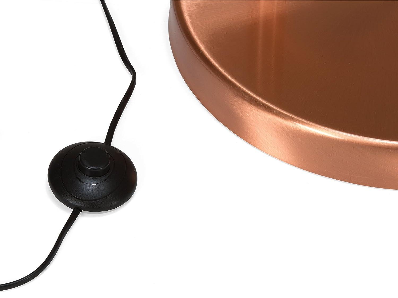 40 x 160 x 210 cm Invicta Interior 20017942 Lampe sur Pied E27 cuivre SV176 Métal Classe énergétique A++ 60 W