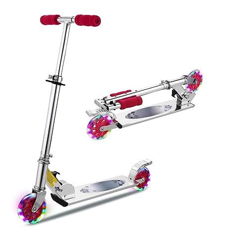 Patinete de Hikole para niños con ruedas con luz LED, patín ...