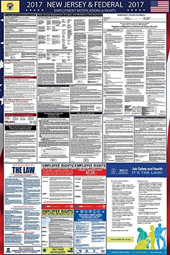2017 New Jersey and Federal Labor Law Poster Laminated