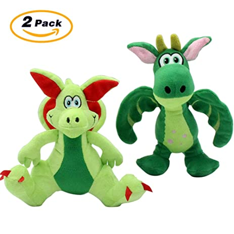 christmas dog toys plush squeaky monster pet toy dragon 2 packfor small and