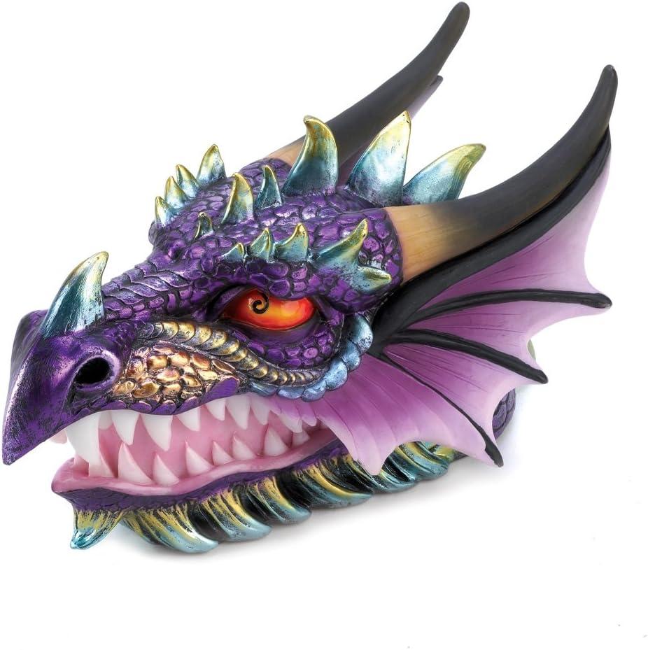 Gifts & Decor Ferocious Mythical Dragon Head Treasure Trinket Box