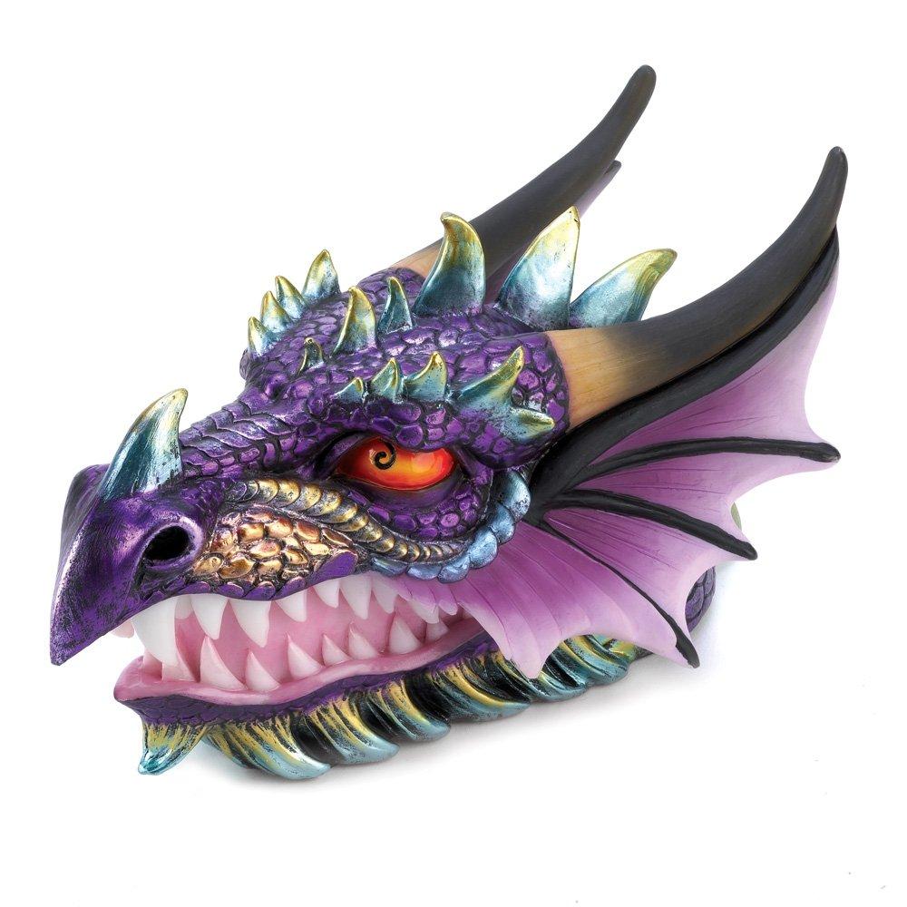 amazon com gifts decor ferocious mythical dragon head treasure