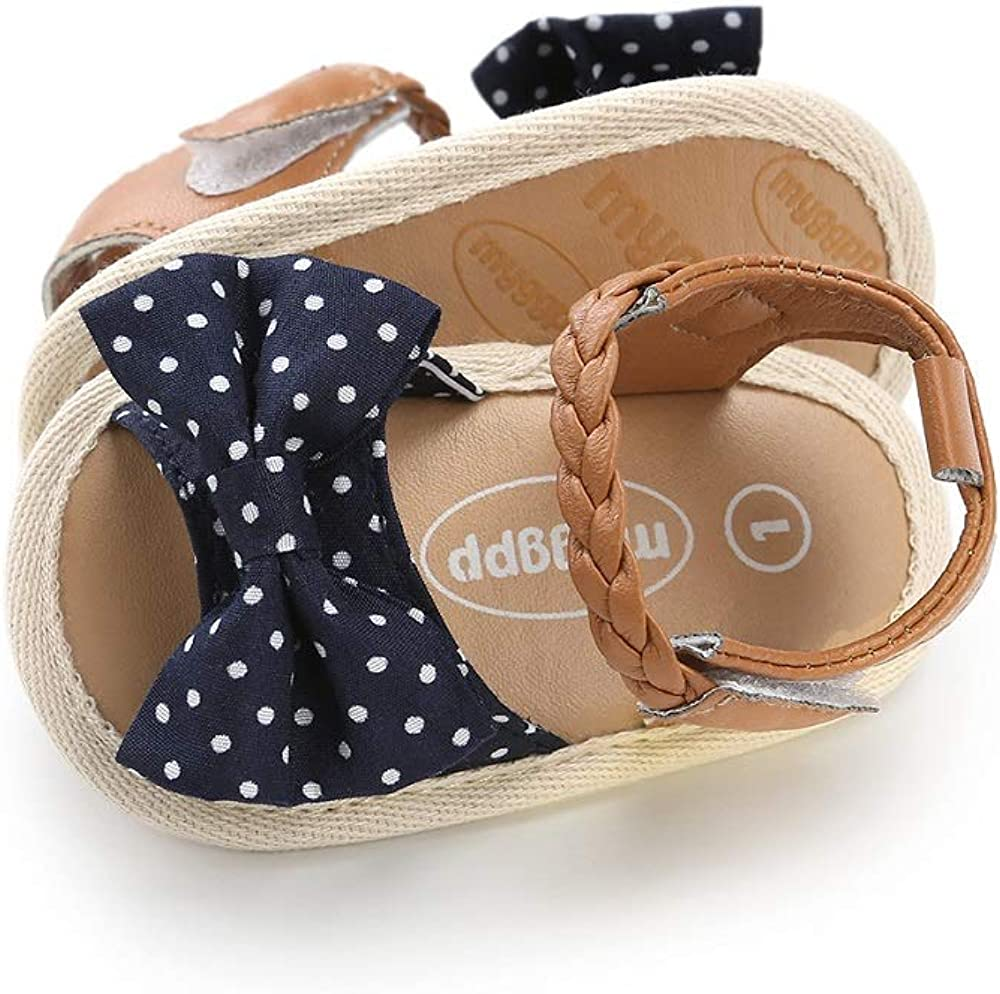 YUKIOVERLY Infant Baby Girls Cute Sandals Soft Sole Summer Princess Dress Bowknot First Walker Shoes