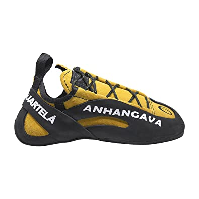 AHANGAVA High-Performance Lightweight Suede Hydrophobic Leather Laced Climbing Shoes With Vibram X-Grip Sole